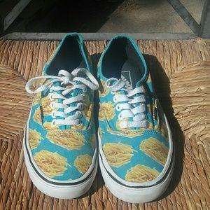 Vans Fries Sneakers - Late Night Blue Fries